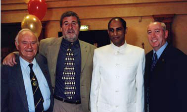 Rotarians with Indian cricketer