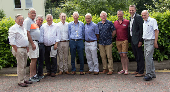 Ricky Butler, Alistair Laird, John Smyth, Tony McMinn, Jimmy McCabe, Philip Orr, Jack Moore, Nigel Stratton, colin Thompson, Steve Wilson and Tom Jebb (L to R) pictured after the handover.