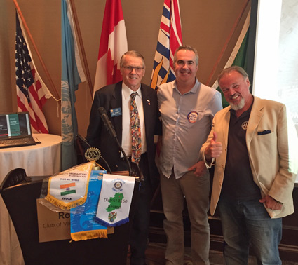 Roger pictured with Vancouver Rotarians