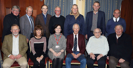 Breige Mulholland pictured with Cookstown Rotarians( picture courtesy of Norman Bell)